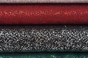 Sklep włókienniczy materiał świecący różne kolory