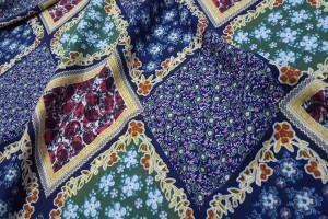 Sklep włókienniczy tkanina w kratkę