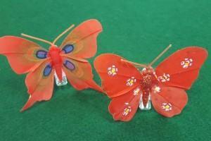 Sklep włókienniczy dodatki krawieckie motylki czerwone