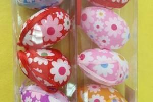 Sklep włókienniczy kolorowe jajka do zawieszenia