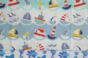 Sklep włókienniczy tkanina w motywy morskie