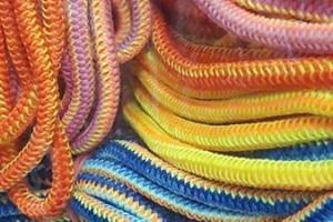 Sklep włókienniczy sznurowadła różne kolory