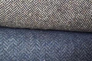 Sklep włókienniczy materiał w zygzaki