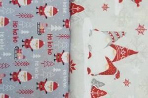 Sklep włókienniczy materiał świąteczny w mikołaje
