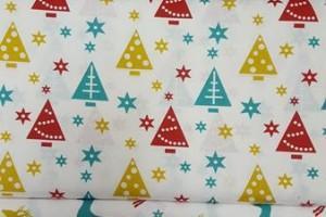 Sklep włókienniczy materiał świąteczny renifer choinka bałwanek