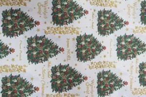 Sklep włókienniczy materiał świąteczny choinka