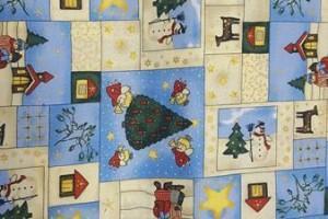 Sklep włókienniczy materiał świąteczny bałwan renifer choinka