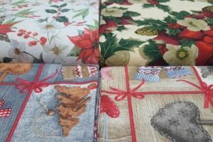 Sklep włókienniczy materiał świąteczny gwiazda betlejemska