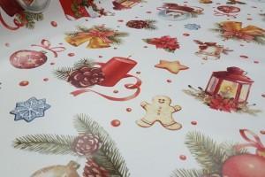 Sklep włókienniczy materiał świąteczny boże narodzenie