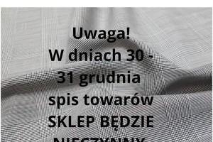 Sklep włókienniczy tkanina szara w kratę