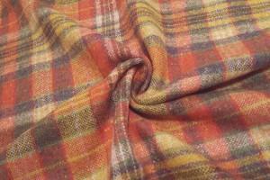 Sklep włókienniczy materiał w kratkę