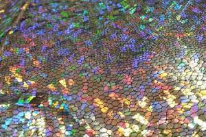 Sklep włókienniczy materiał złoty w cekiny świecący