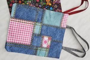 Sklep włókienniczy torby z materiału różne kolory