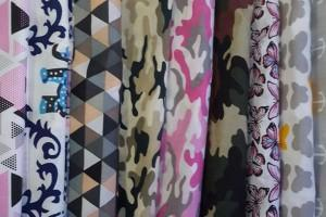 Sklep włókienniczy tkania różne kolory i wzory