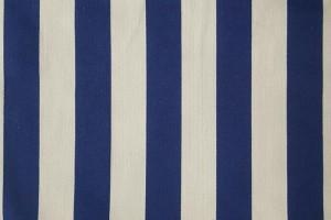 Sklep włókienniczy materiał w paski biało-niebieski