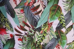 Sklep włókienniczy tkanina kolorowe liście