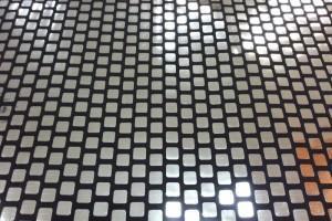 Sklep włókienniczy materiał świecący kratka