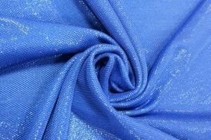 Sklep włókienniczy materiał niebieski