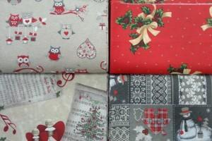 Sklep włókienniczy tkaniny dekoracyjne boże narodzenie