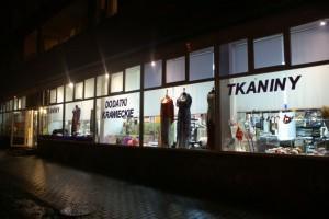 Sklep włókienniczy witryna sklepu Warszawa Mokotów