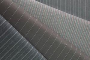 Sklep włókienniczy tkanina w drobne paski