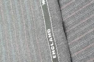 Sklep włókienniczy tkanina szara w paski