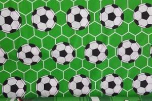 Sklep włókienniczy materiał w motywy piłkarskie piłka nożna