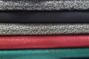 Sklep włókienniczy materiał świecący rożne kolory